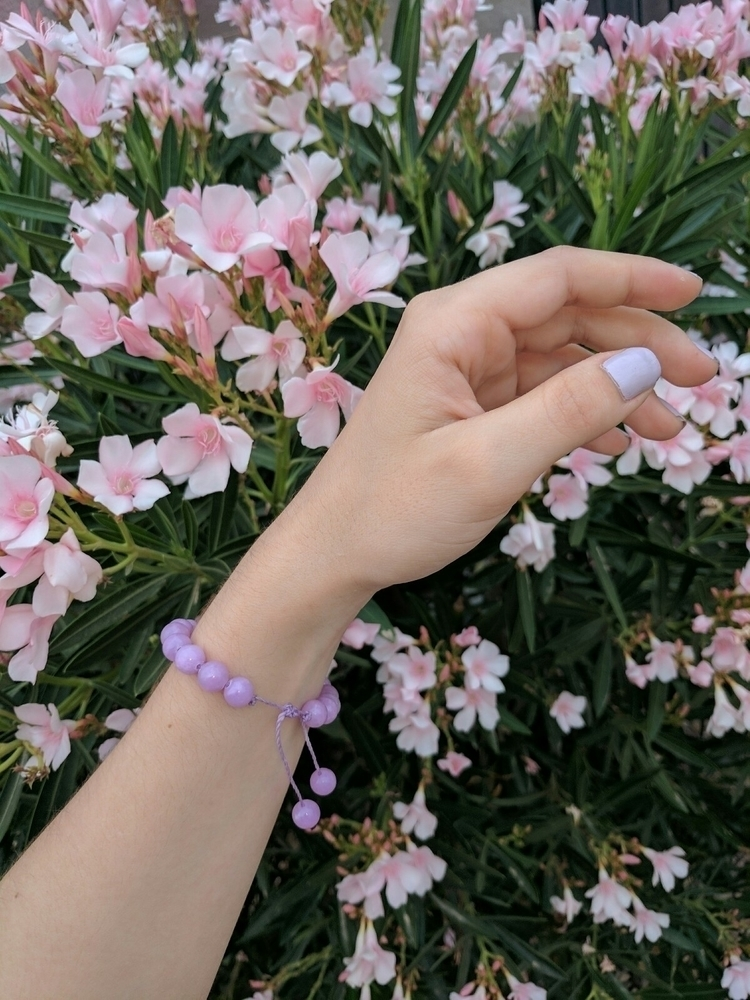 bracelets scrumptious lavender  - littlegoldfishcreations | ello