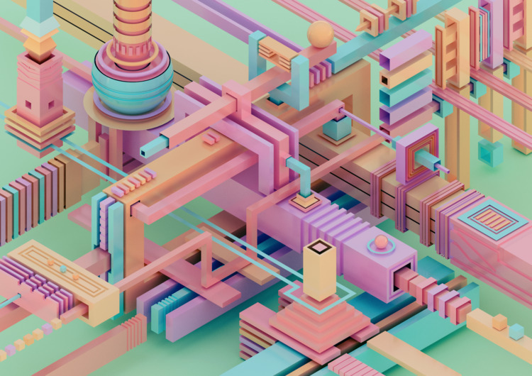 b3D, 3D, abstract, art, design - ikiste | ello