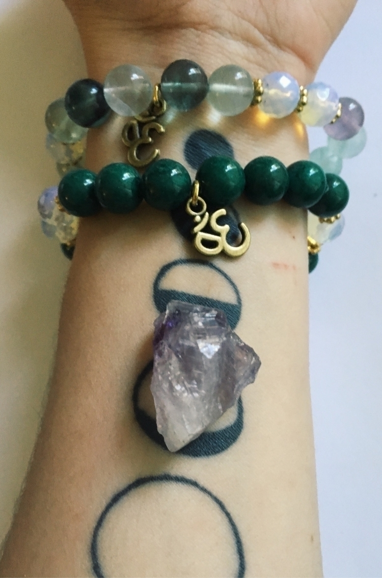chunky dark green Jasper moonst - gypsyxjewels | ello