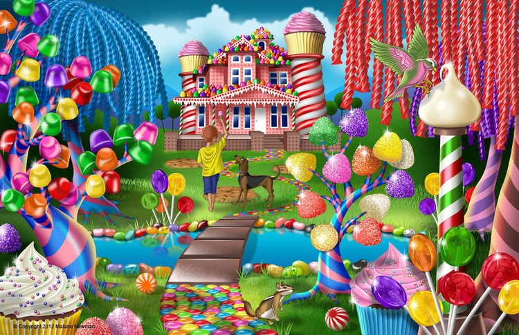 series candyland worlds - cartoon - malanenewman | ello