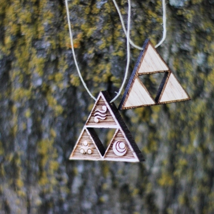 Legend Zelda wooden pendants.  - moonandroot | ello