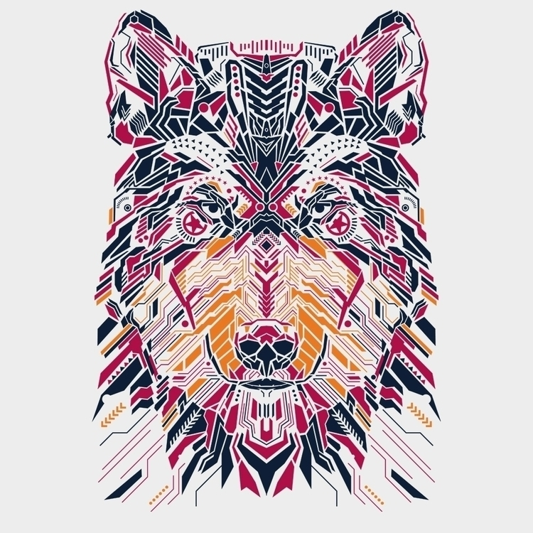 Wolfie, vector illustration - illustration, - affan2fly | ello