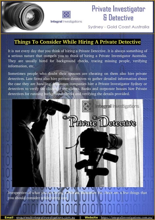 Meet team . Call Private Detect - integralinvestigations | ello