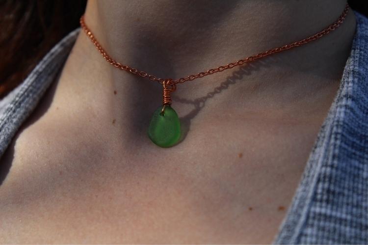 listed Dainty green sea glass c - hippiestones | ello