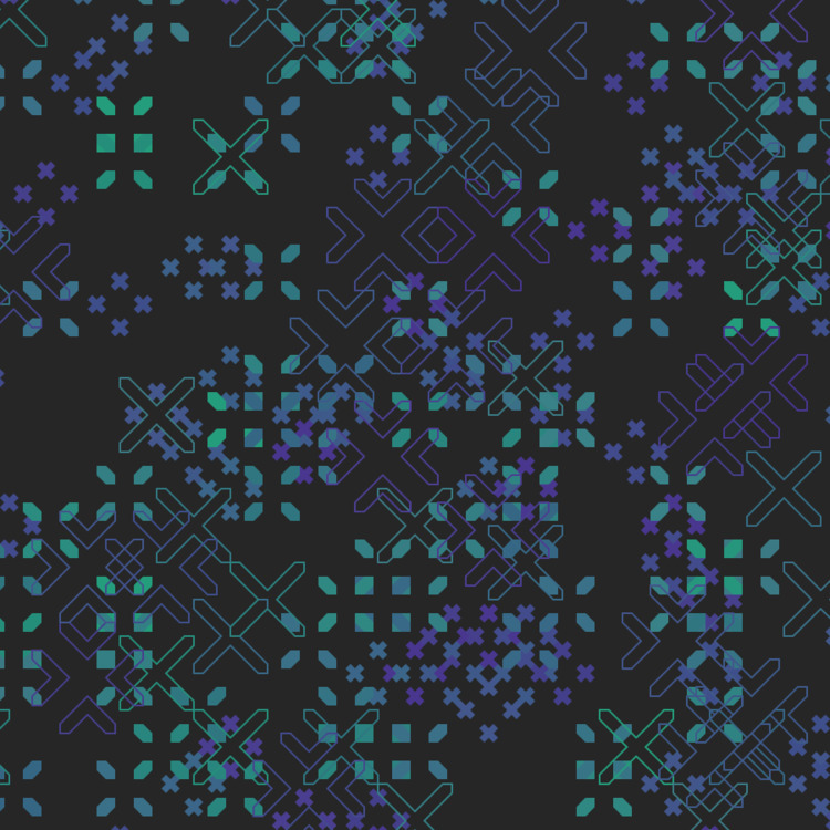 Geometric Shapes / 170602 - creativecoding - sasj | ello