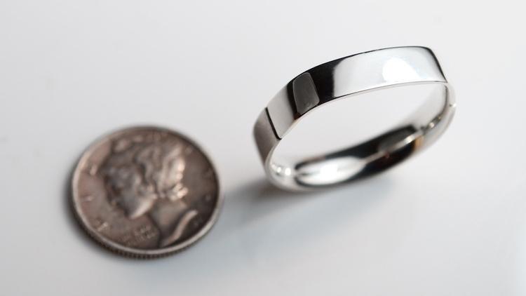 Flat Top Modern Silver Ring - f - mineralrare | ello