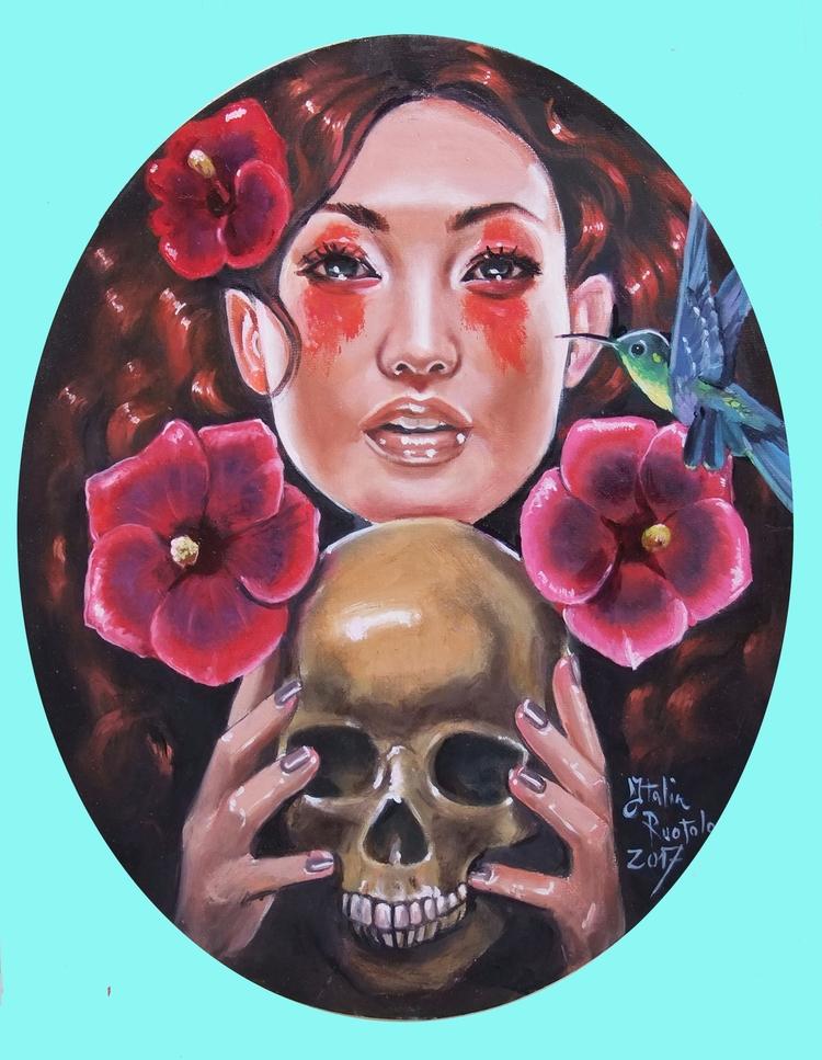 oil painting oval canavas 24 x3 - italiaruotoloart | ello