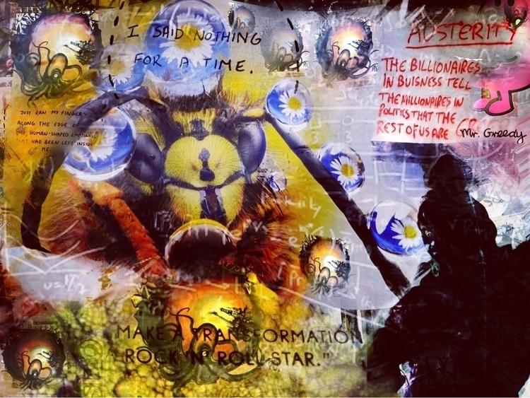 Austerity flower - wasp, octopus - montymckeever | ello