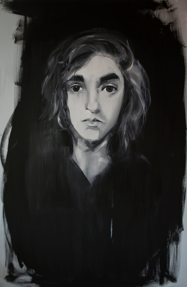 daughter, oil, canvas, size150x - judytakrawczyk | ello