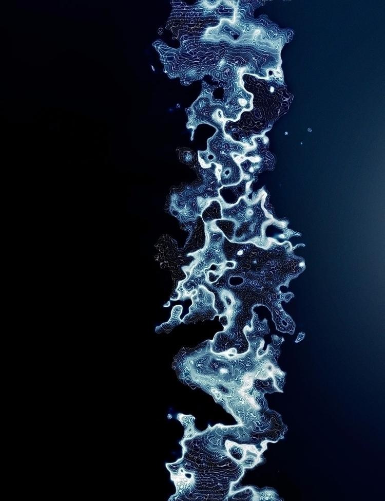 OCEANS MEET - 3d, digitalart, art - altitxde | ello