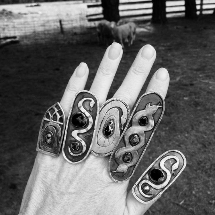 hand art spirit shield ring - nomadjewellery - charleysforestsilver | ello