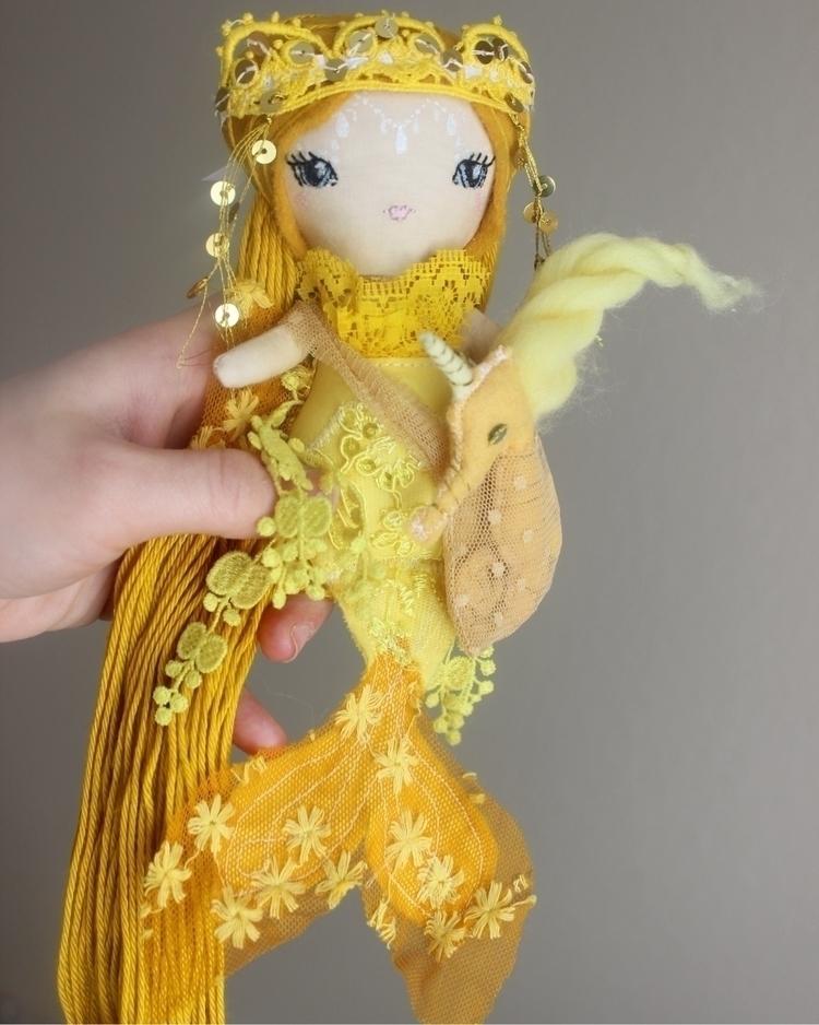 Sunshine mermaid doll :sparkles - libertylavenderdolls | ello