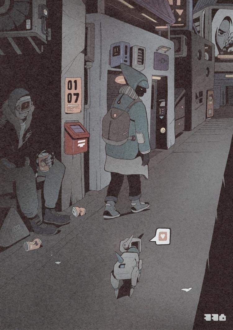 Day 338/365: Robot Love - illustration - 1sles | ello