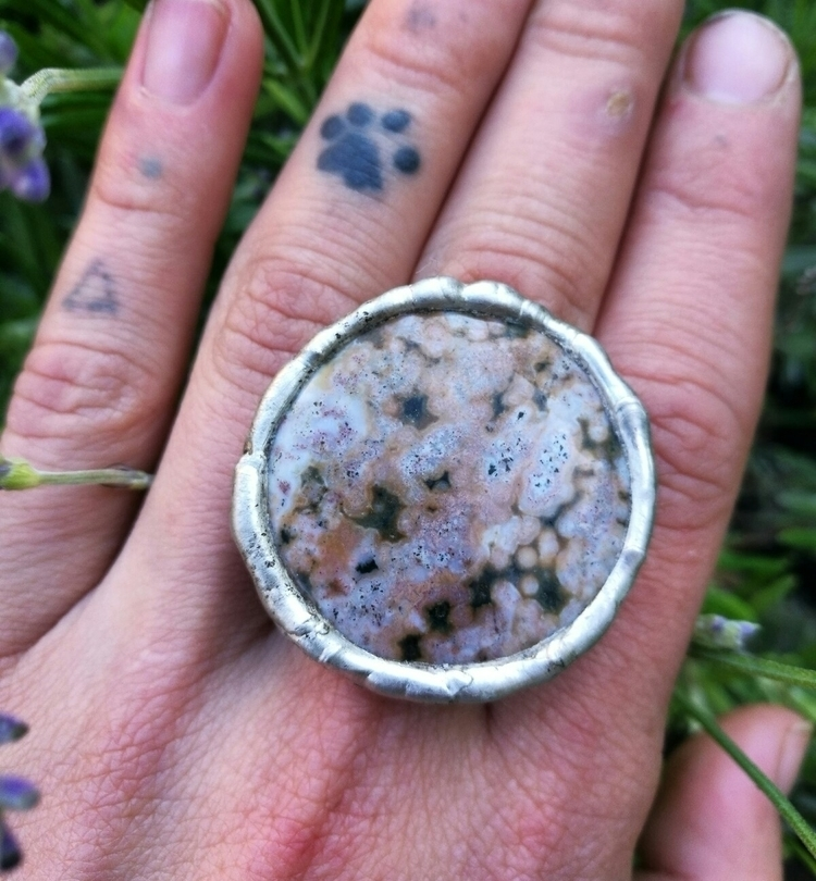 Molten metal Ocean Jasper ring  - terraflux | ello