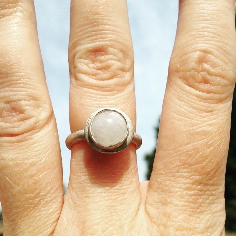 Moonstone ring commission - stoneandsilver | ello