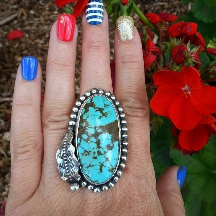 ring number 8 turquoise size 8 - eclecticblingjewelry | ello