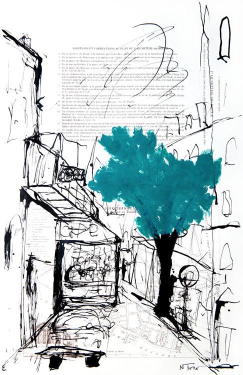 Rue Paris Oil, Pen Ink paper 19 - nealturner | ello