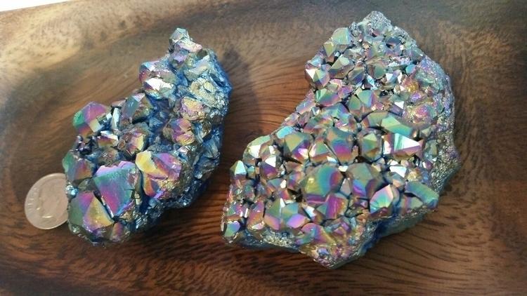 stunning rainbow titanium clust - redpandaoasis | ello