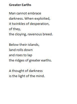 poetry, poem, greaterearths, mancannotembracedarkness - dodgycodger | ello