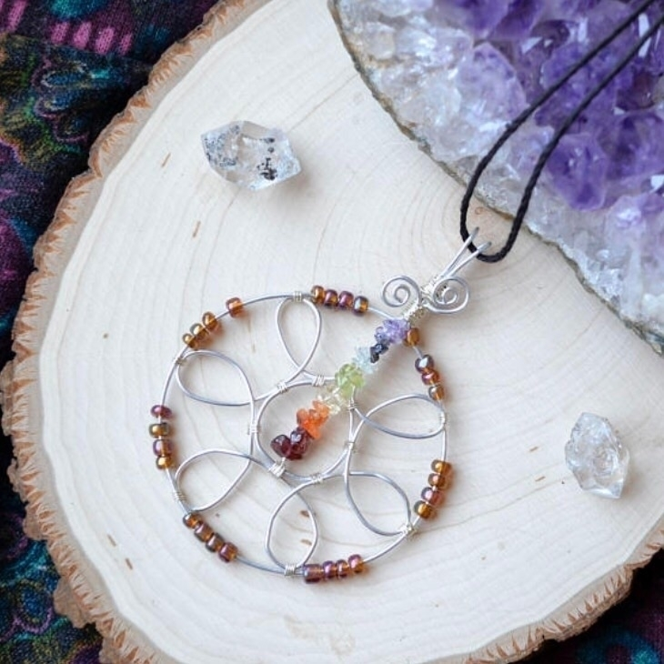 Chakra Mandala pendant. Ooak. s - taramantra | ello