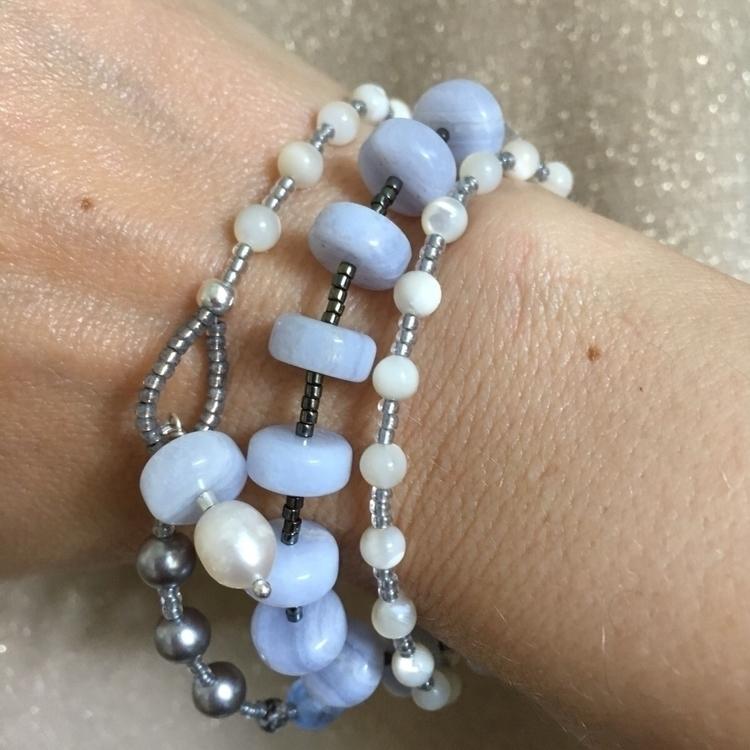 'Misty' Blue Lace Agate Wrap Br - saragracedesigner | ello