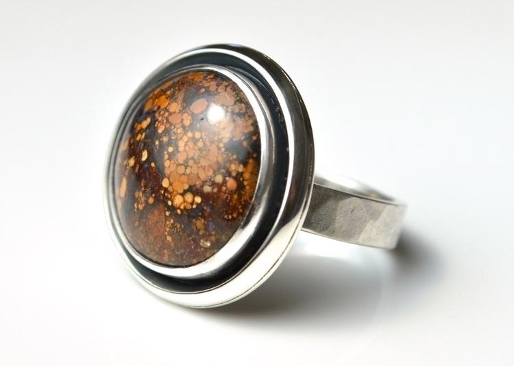 Magnesite Statement Ring - orbi - mineralrare | ello