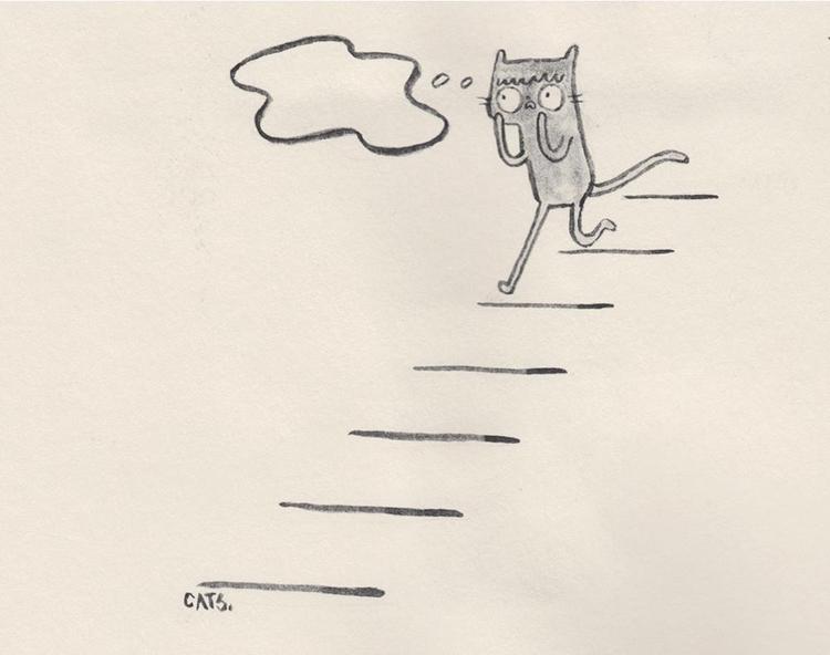 nervous breakdown - watercolour - catsac | ello