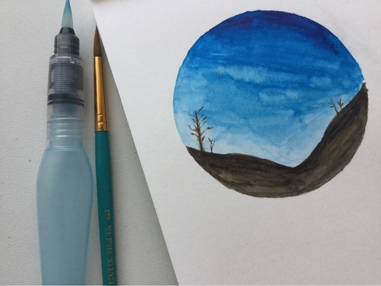 watercolor circles based landsc - itsxmarina | ello