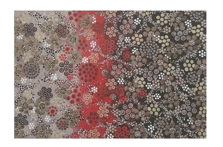acrylic dot painting Angela Bru - ateliercrafers | ello