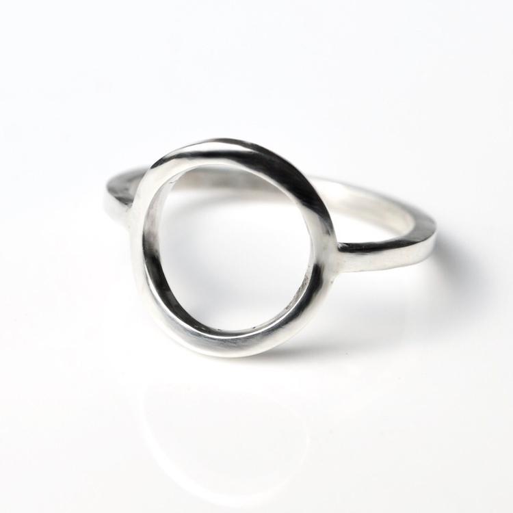 Open Circle Silver Ring - karma - mineralrare | ello