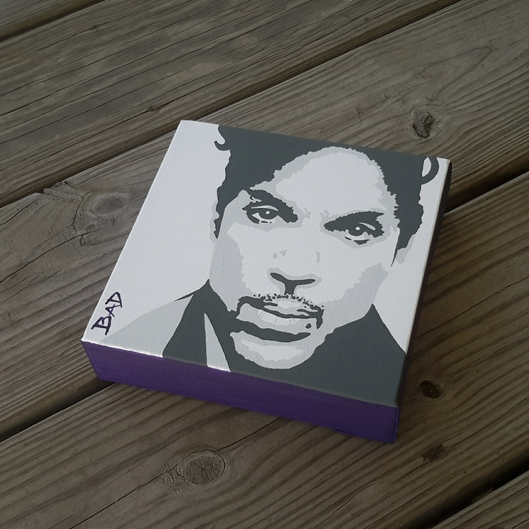 PRINCE - prince, popart, acrylic - initiallybad | ello