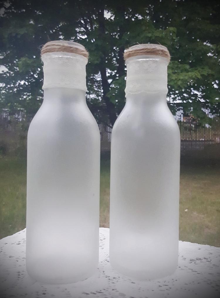 upcycledvases, frostedglass, rusticvases - irishgypsydesignshop | ello