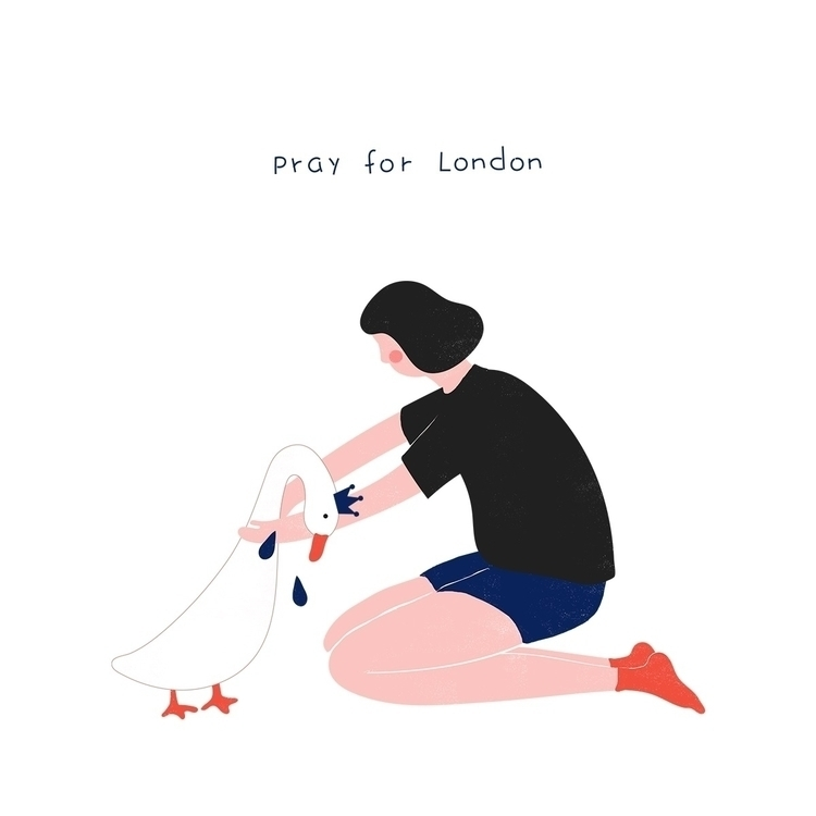 prayforlondon, illustration, drawing - hulahoop_ | ello