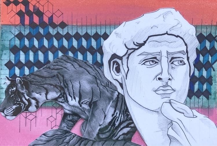 illustration, mixedmedia, collageart - whitneysanford | ello
