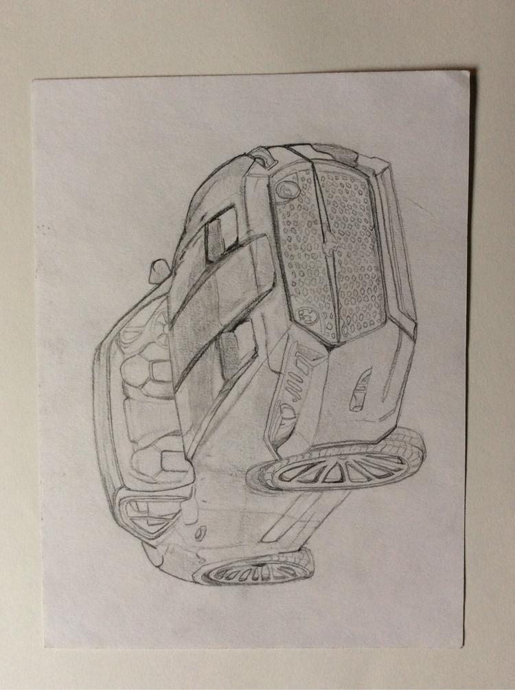 Freshman year mustang sketch lo - tahjwilson1 | ello