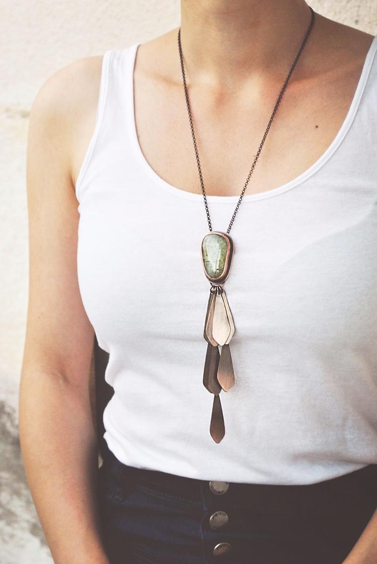 Copper Prehnite combined boho f - twistedjewelry | ello