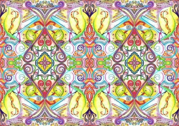 Symmetry/ Watercolor - VII - micmazi   ello