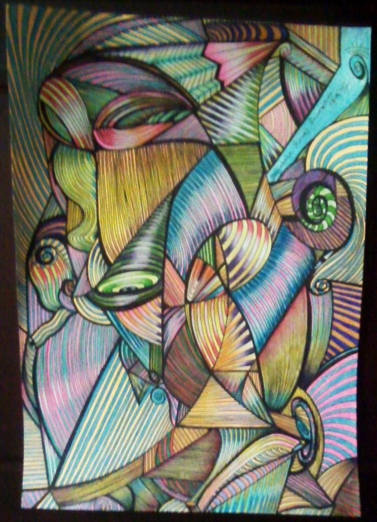 Lines/ Watercolor/ Nanny  - micmazi | ello