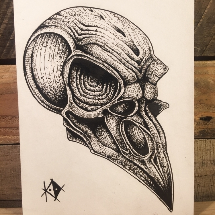 Ello. bio-ish bird skull post.  - standardorbitart | ello