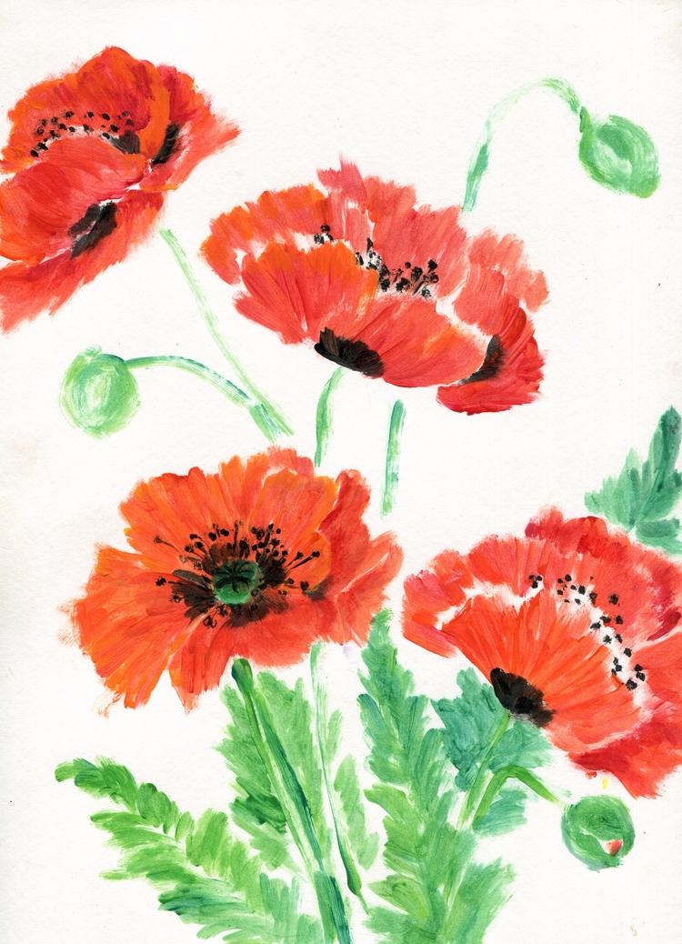 Plastic Poppies Acrylic Paper 2 - havekat | ello