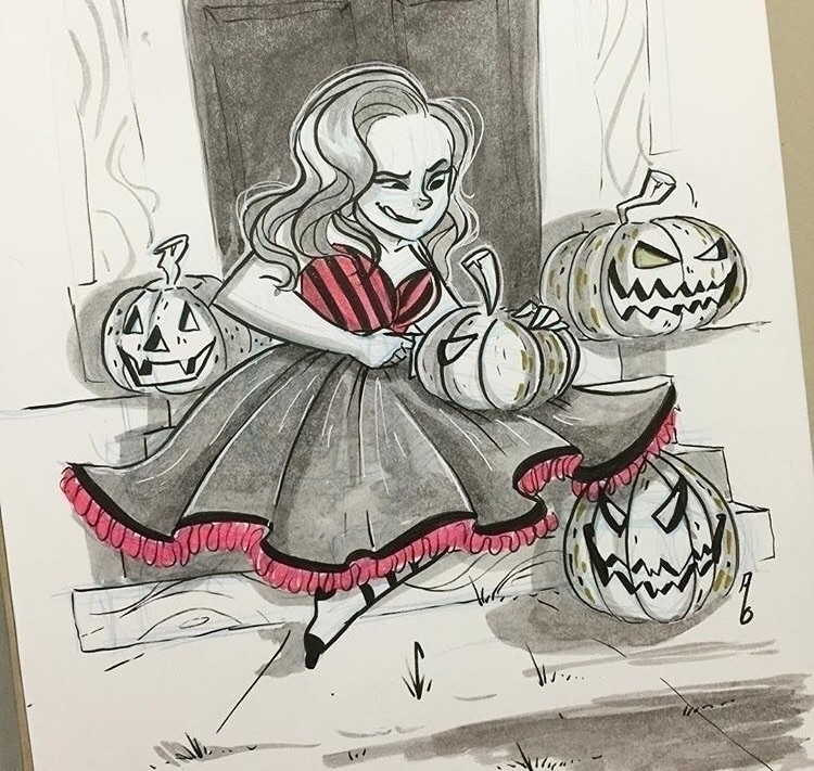 Pumpkin carving year - inktober - mustashleigh | ello
