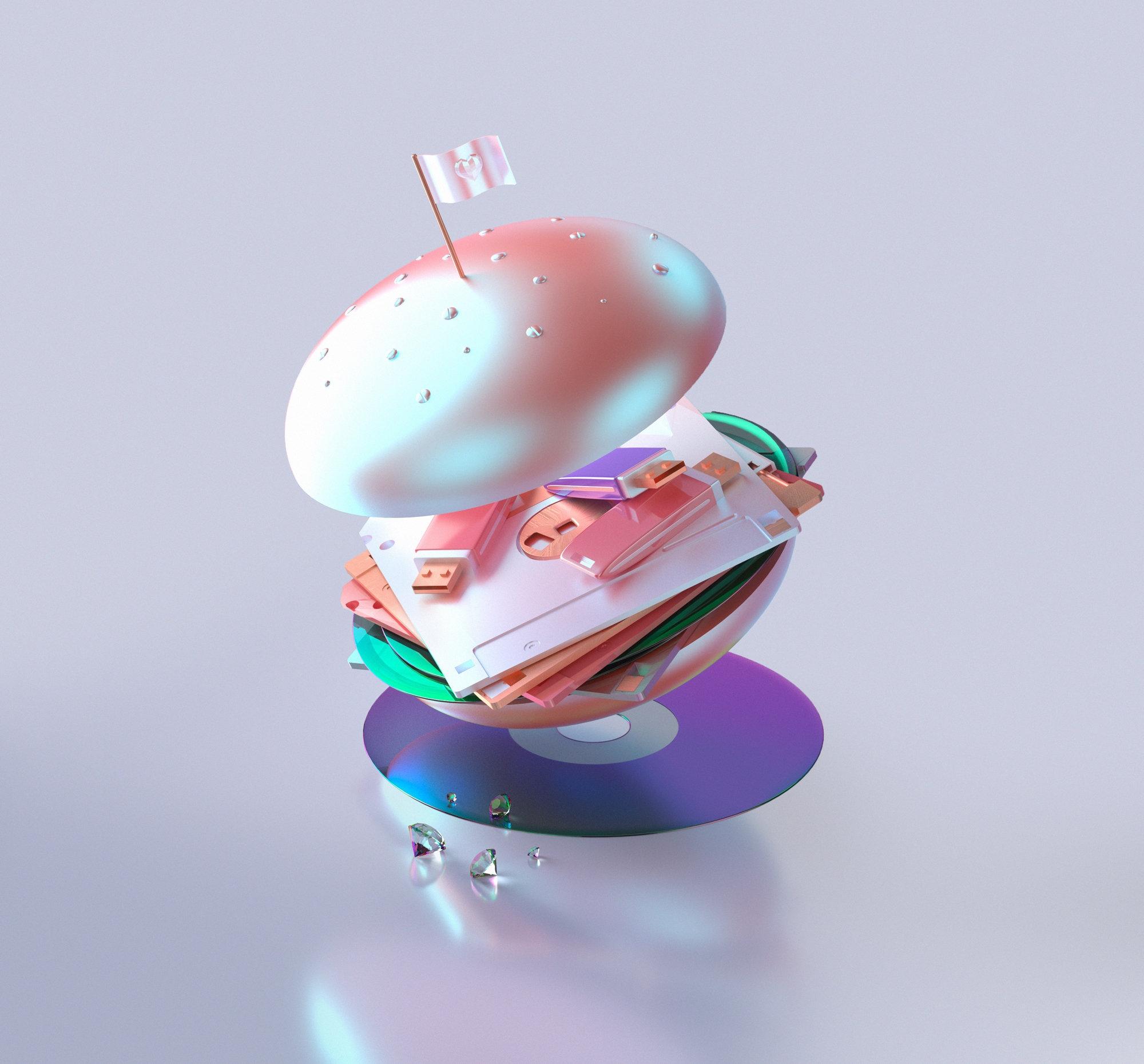 3D Burgers GIF Lips: Pop-Minima - scene360 | ello