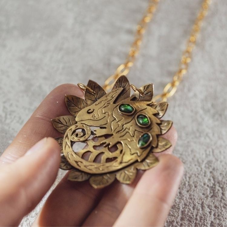 Chameleon pendant brass 🦎:four - mythcraftery | ello