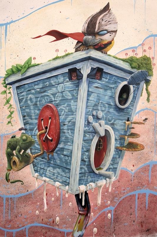 Lets Super - sprayart, streetart - benpattersonart | ello