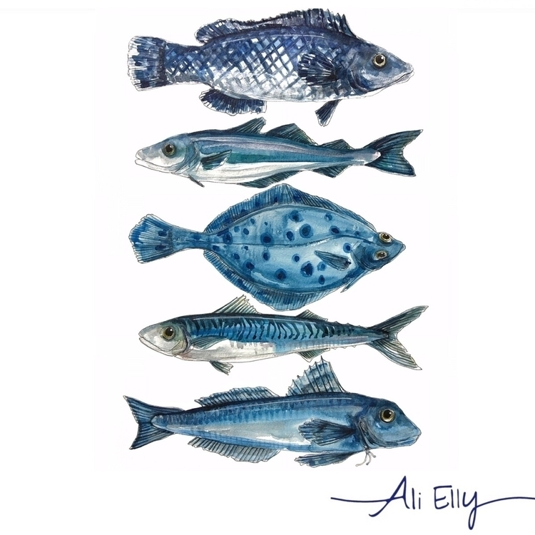 coastal, painting, watercolour - aliellydesign | ello