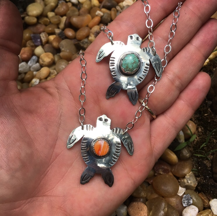 Baby Sea Turtle Necklaces -- sp - lunaseestudios | ello