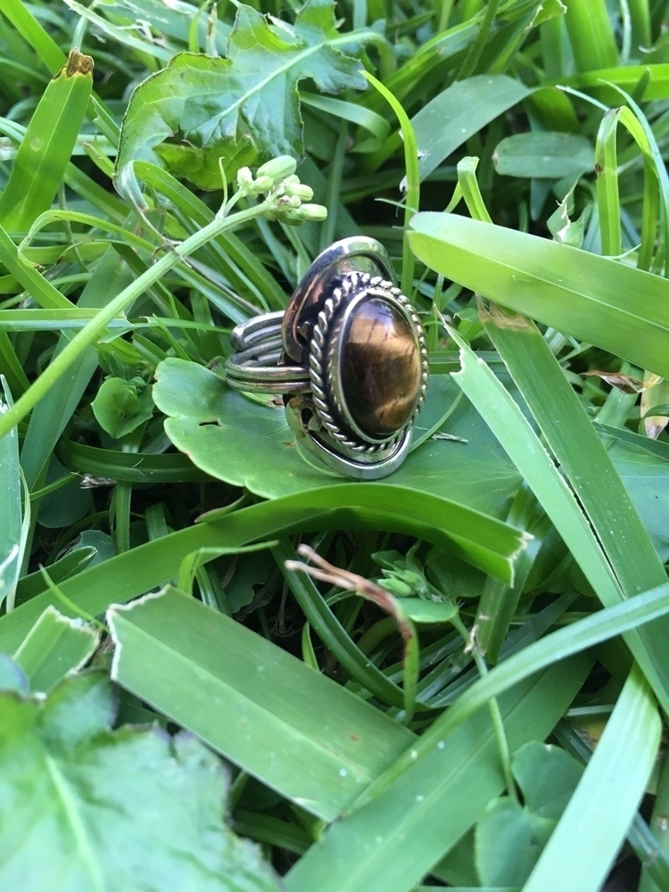 Adjustable tiger stone ring sho - aljewelers | ello