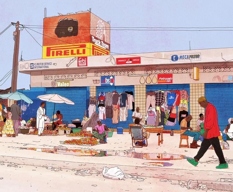 travelbook illustrations Senega - digitalillustrationworks | ello