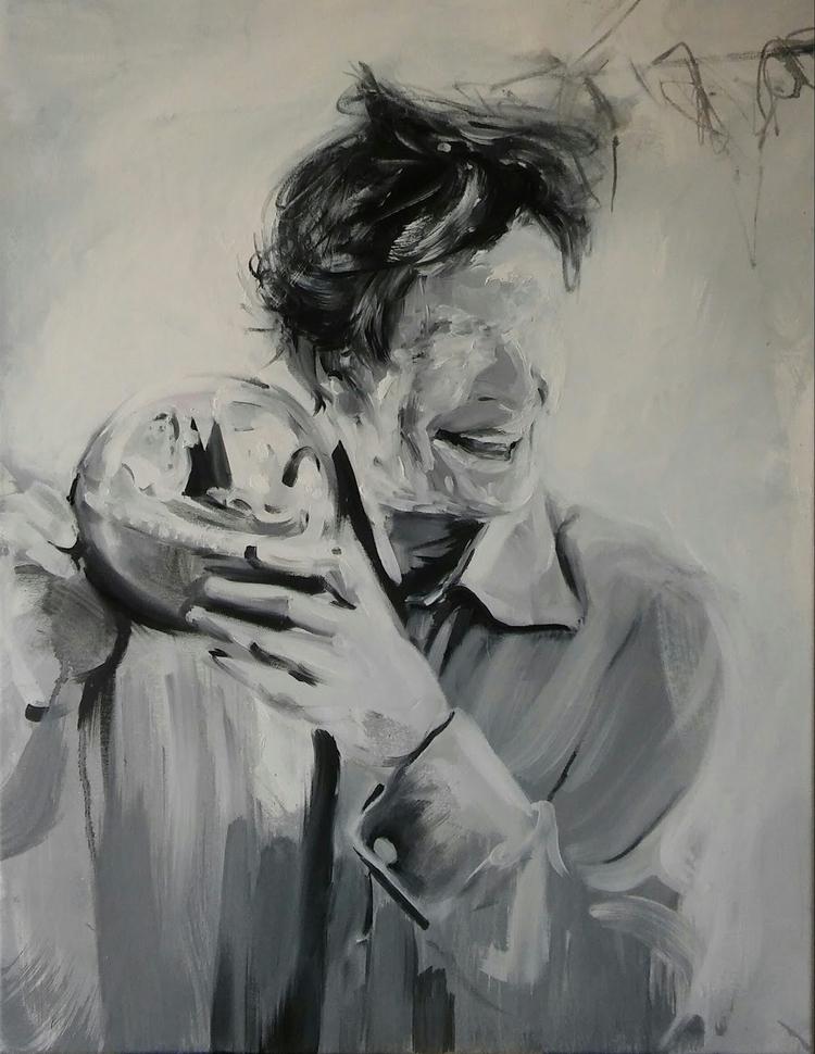 John Cage# oil canvas# size 65x - judytakrawczyk | ello