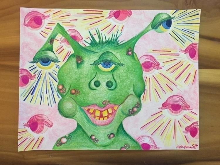 Eye Prisma colored pencils mark - artbykaylabraden   ello